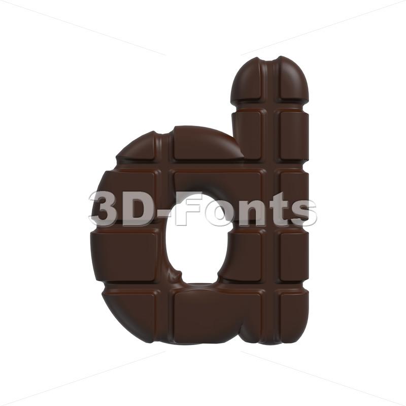 chocolate letter D – Lowercase 3d font