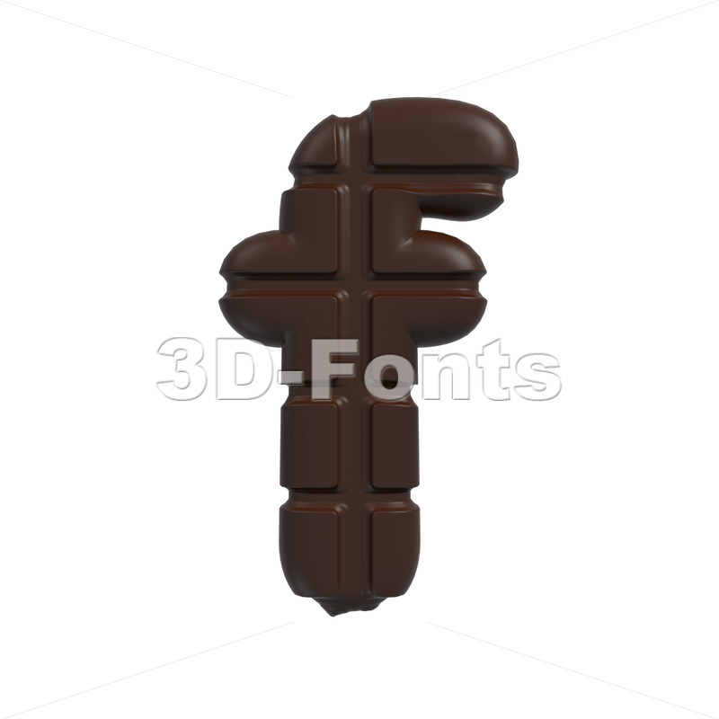 chocolate letter F – Small 3d font