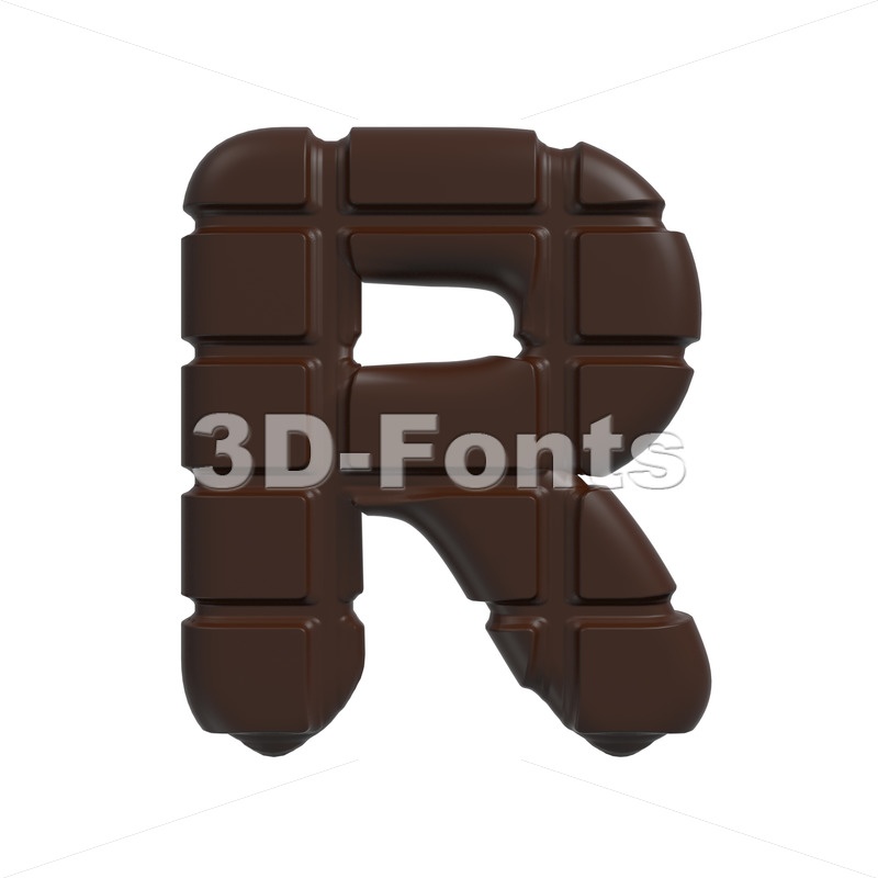 chocolate letter R – Uppercase 3d font