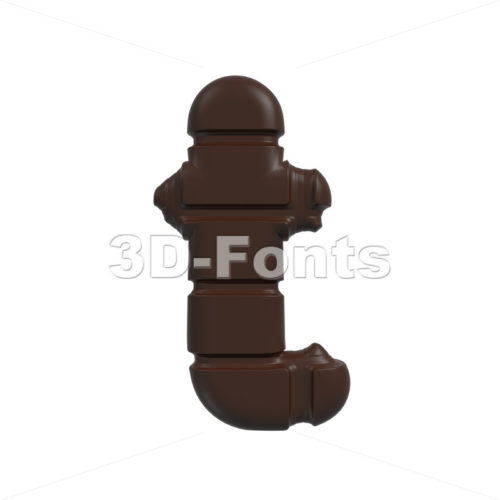 chocolate letter T – Lower-case 3d font
