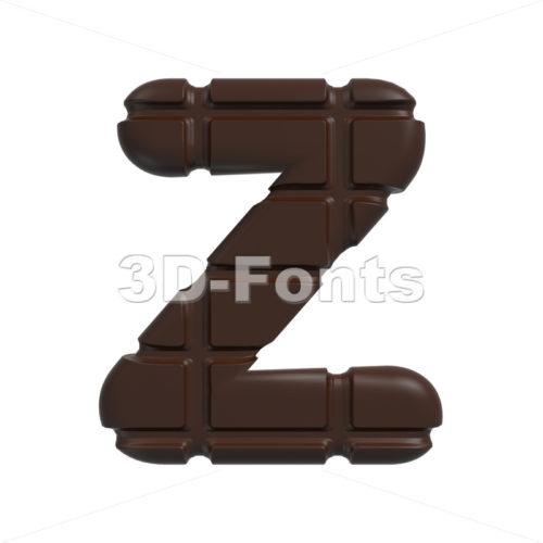 chocolate letter Z – Upper-case 3d font