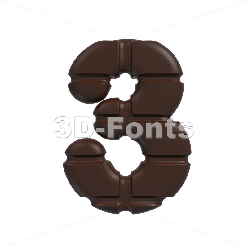 chocolate number 3 – 3d digit