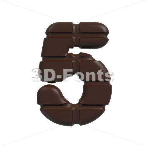 chocolate number 5 – 3d digit