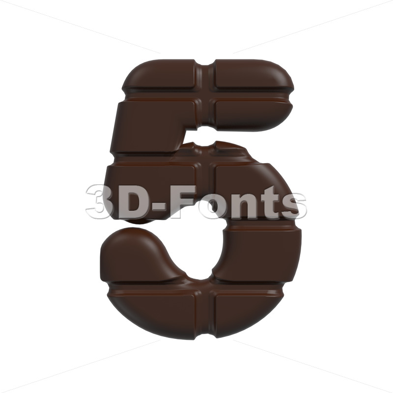 chocolate number 5 – 3d digit