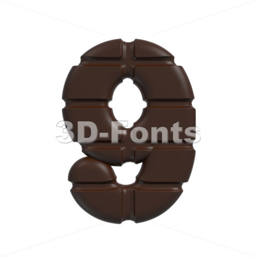 chocolate number 9 – 3d digit