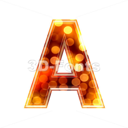 defocus lights letter A – Capital 3d character