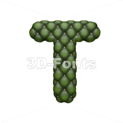 divan character T – Uppercase 3d letter