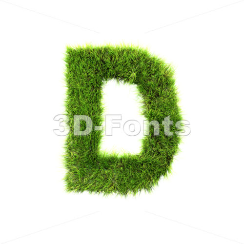green herb font D – Capital 3d character