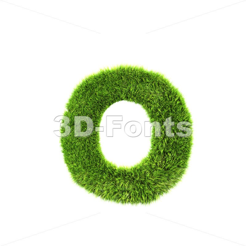 green herb font O – Small 3d letter