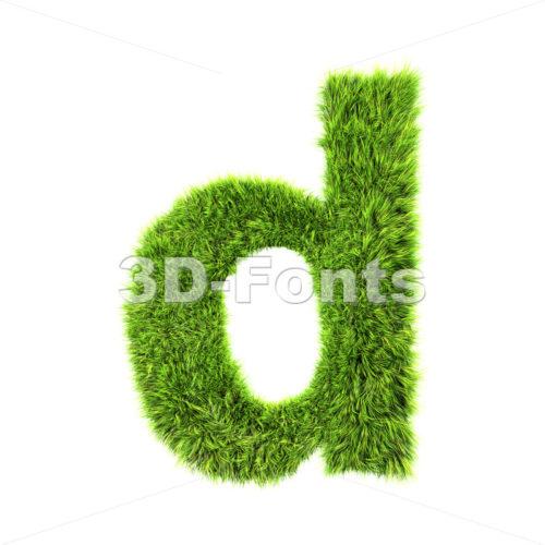green herb letter D – Lowercase 3d font