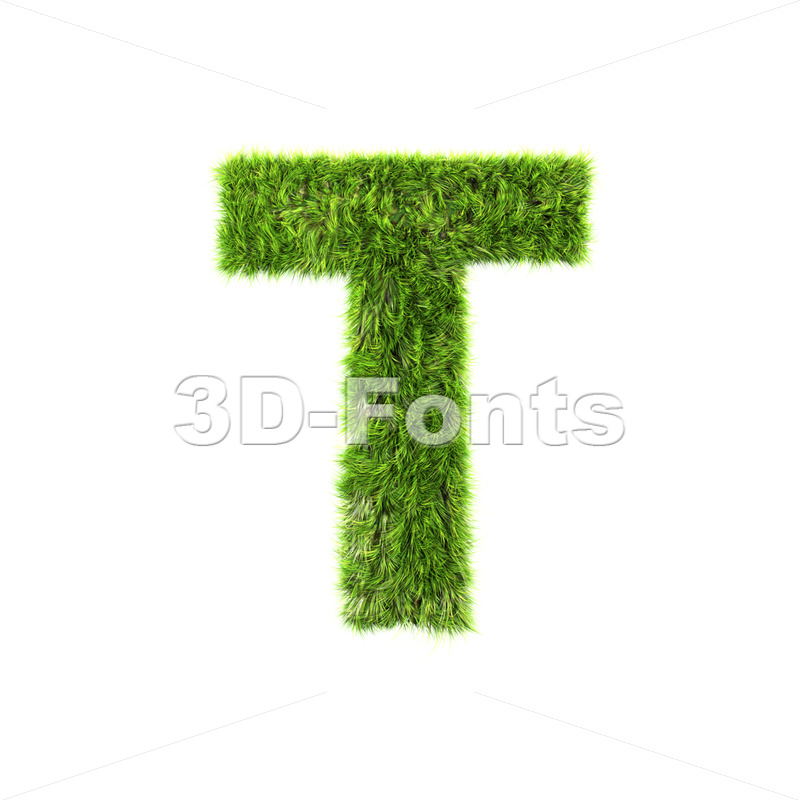 herb character T – Uppercase 3d letter