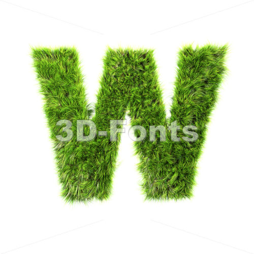 herb font W – Capital 3d letter