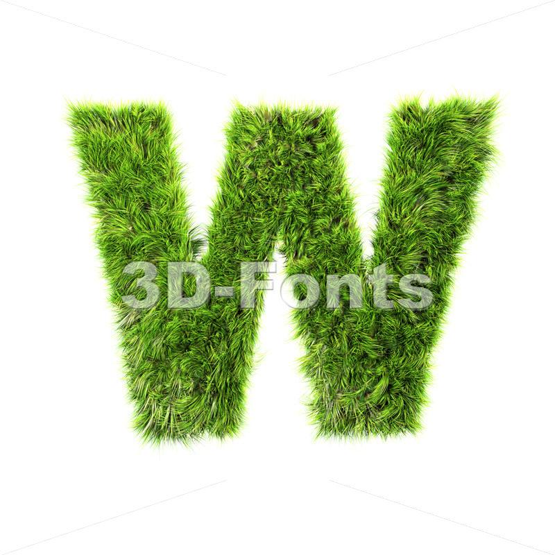 herb font W – Capital 3d letter