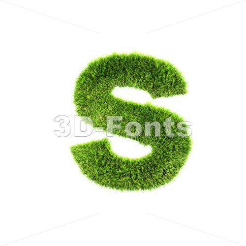 herb letter S – Lowercase 3d font