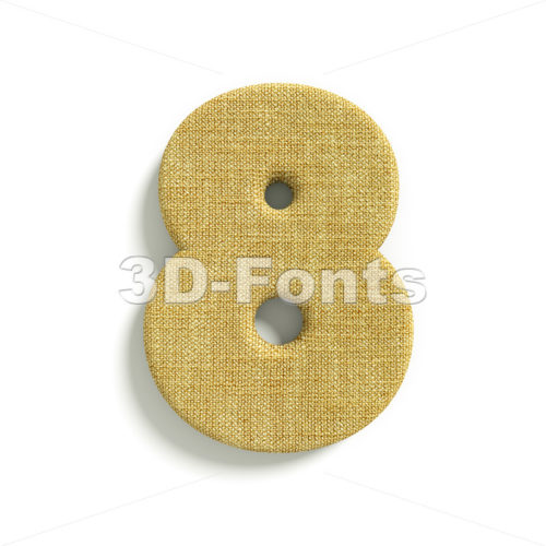 hessian fabric digit 8 – 3d number