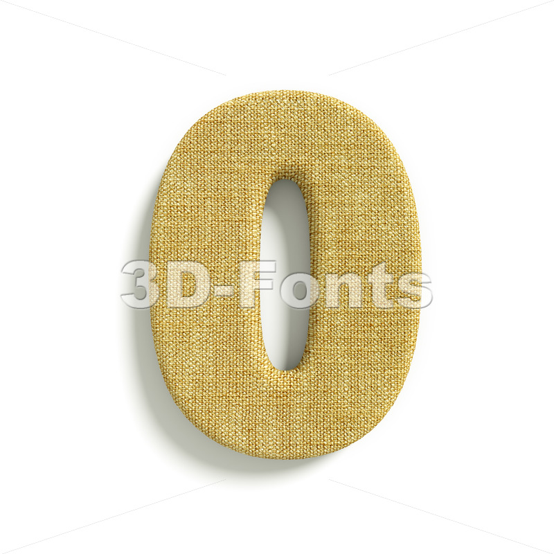 hessian fabric number 0 – 3d digit