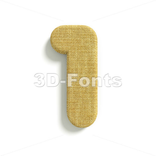 hessian fabric number 1 – 3d digit