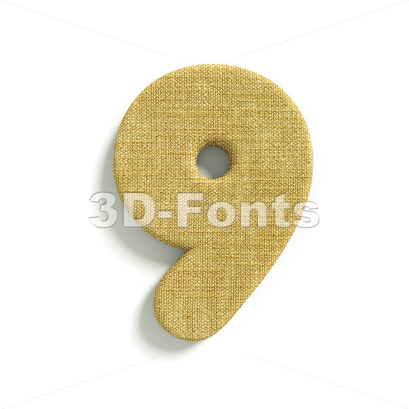 hessian fabric number 9 – 3d digit