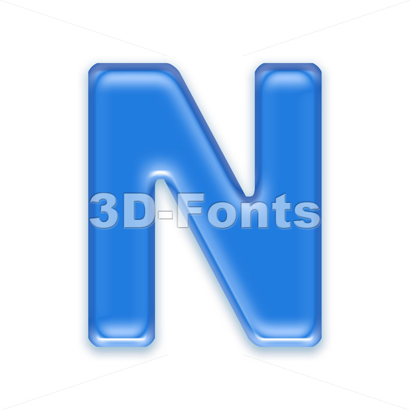 jelly font N – Capital 3d letter