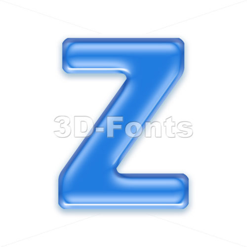 jelly letter Z – Upper-case 3d font
