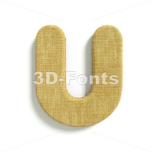 jute 3d letter U – Capital 3d font