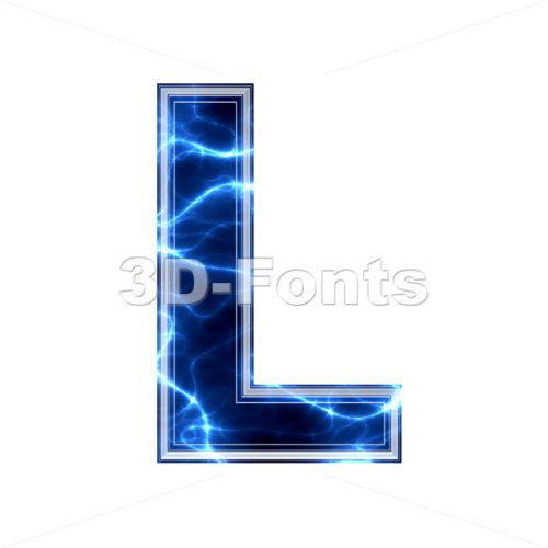 lightning 3d font L - Capital 3d character - 3d-fonts.com