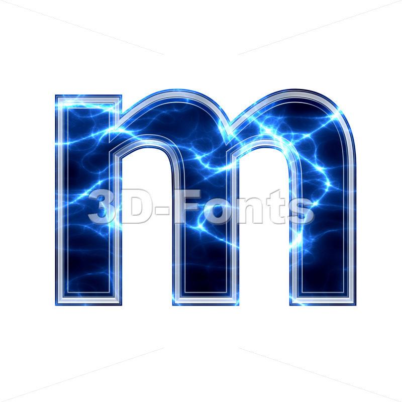 lightning 3d font M – Lowercase 3d letter