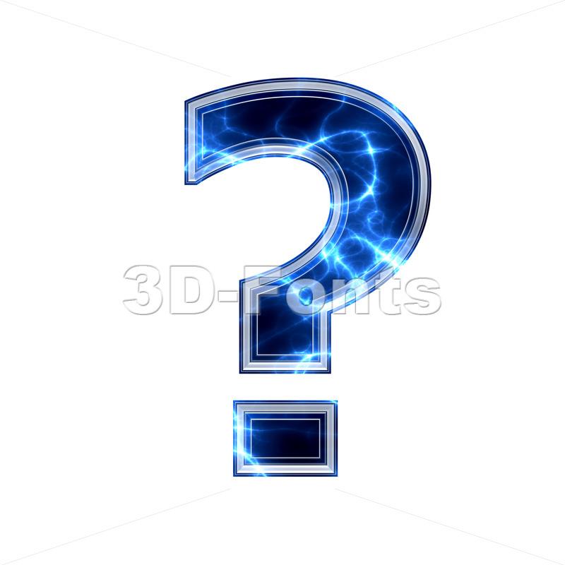 lightning interrogation point - 3d sign - 3d-fonts.com