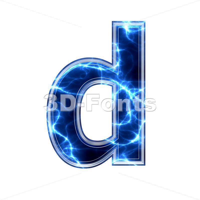 lightning letter D – Lowercase 3d font