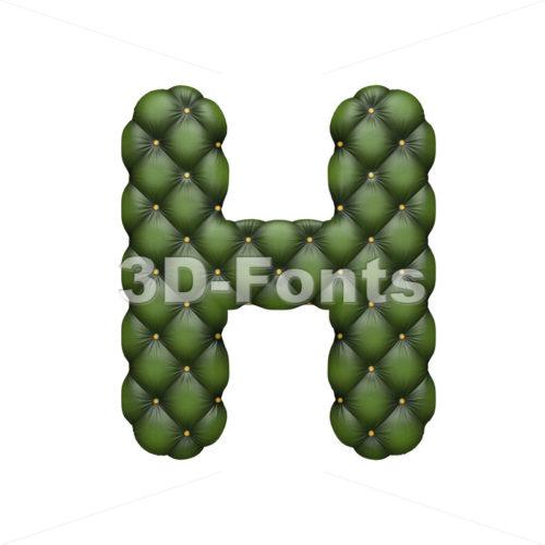 sofa 3d letter H – Upper-case 3d character