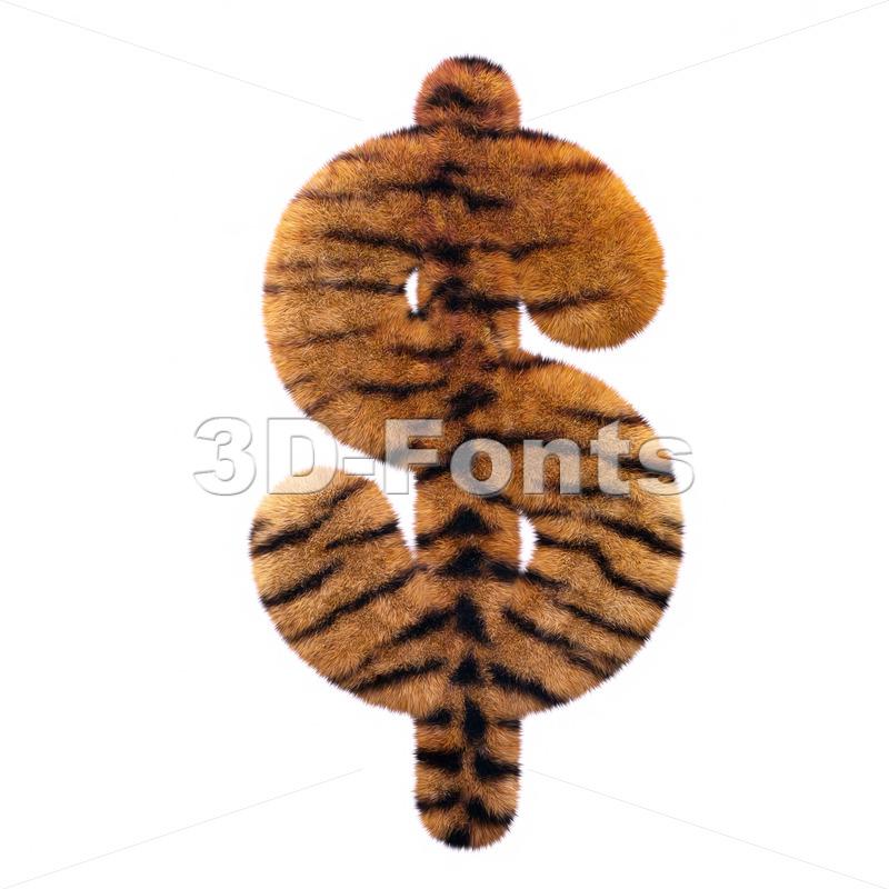 Tiger dollar currency sign – 3d money symbol