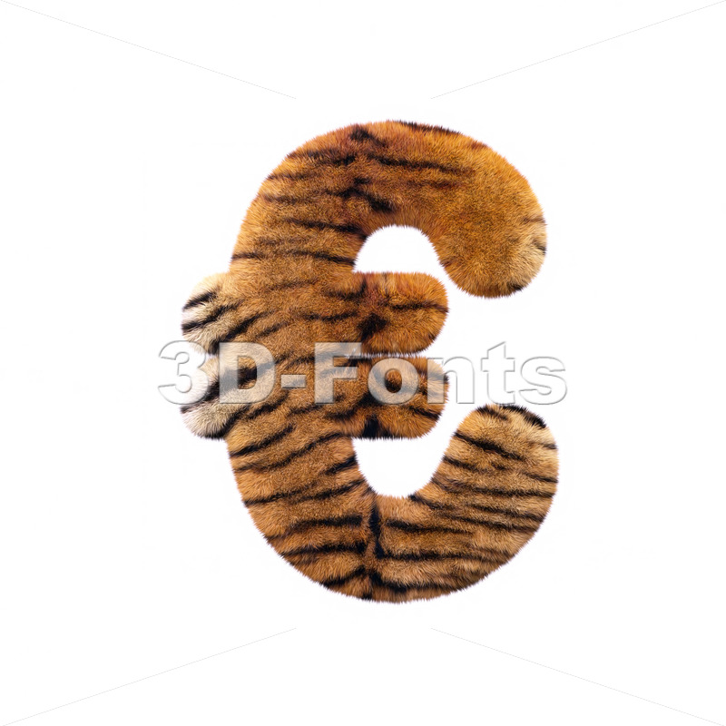 Tiger euro currency sign – 3d business symbol