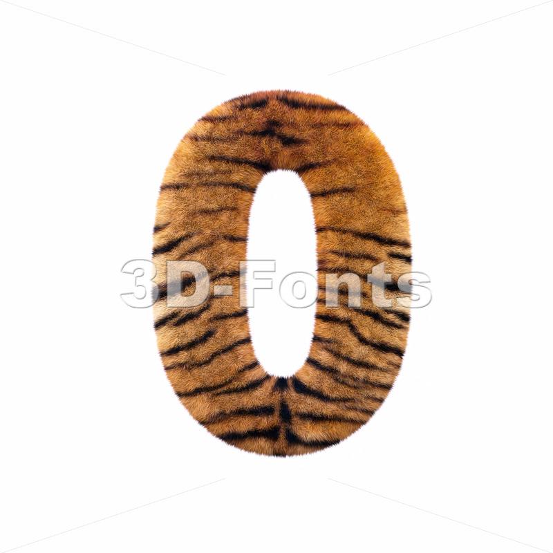 Tiger number 0 – 3d digit