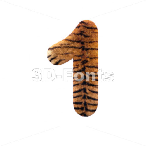 Tiger number 1 – 3d digit