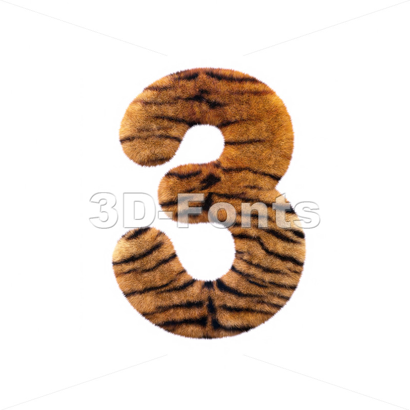 Tiger number 3 – 3d digit