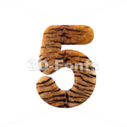 Tiger number 5 – 3d digit