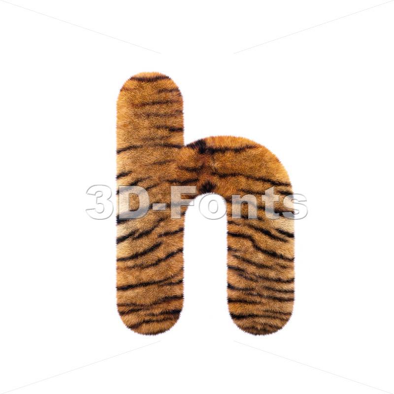 safari tiger font H – Lower-case 3d letter