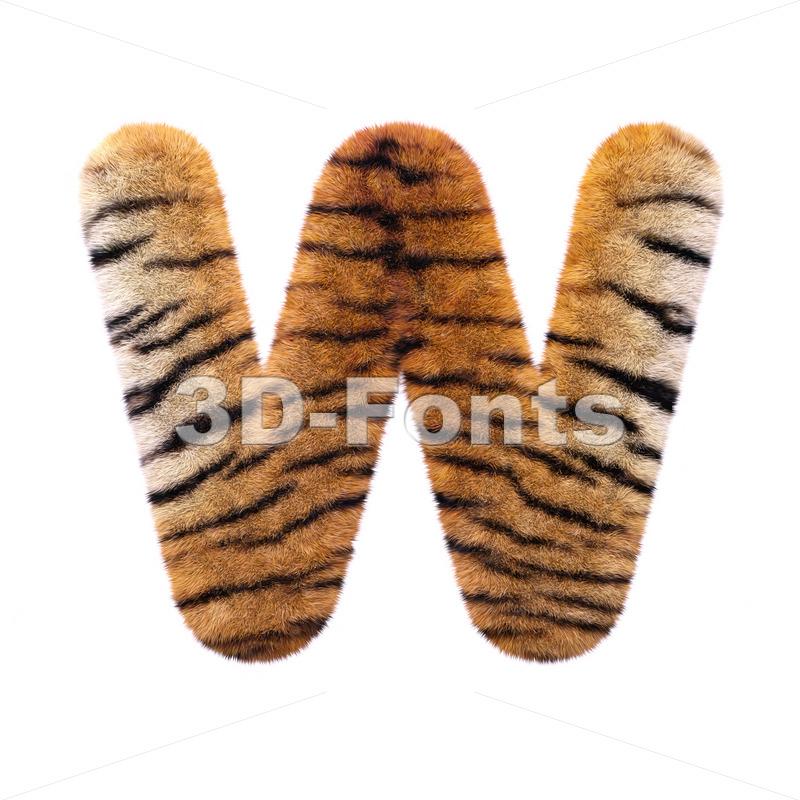 safari tiger font W – Capital 3d letter