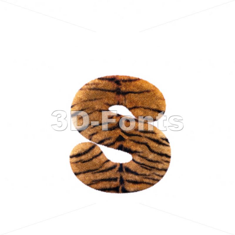 safari tiger letter S – Lowercase 3d font