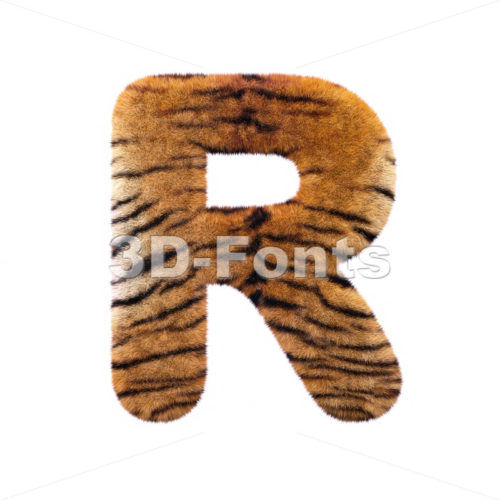 tiger coat letter R – Uppercase 3d font