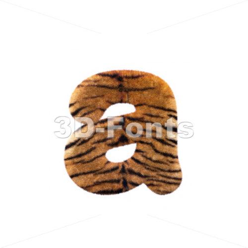 tiger fur font A – Lowercase 3d letter