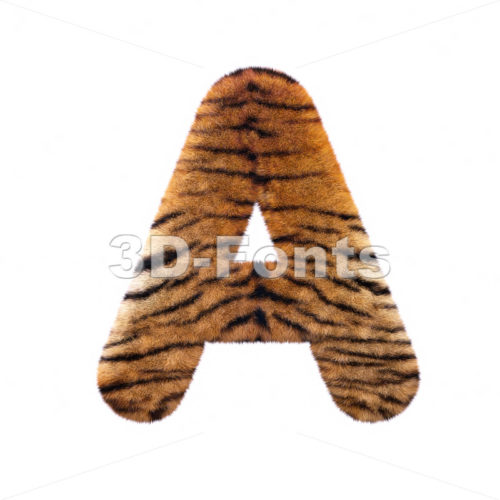 tiger fur letter A – Capital 3d character