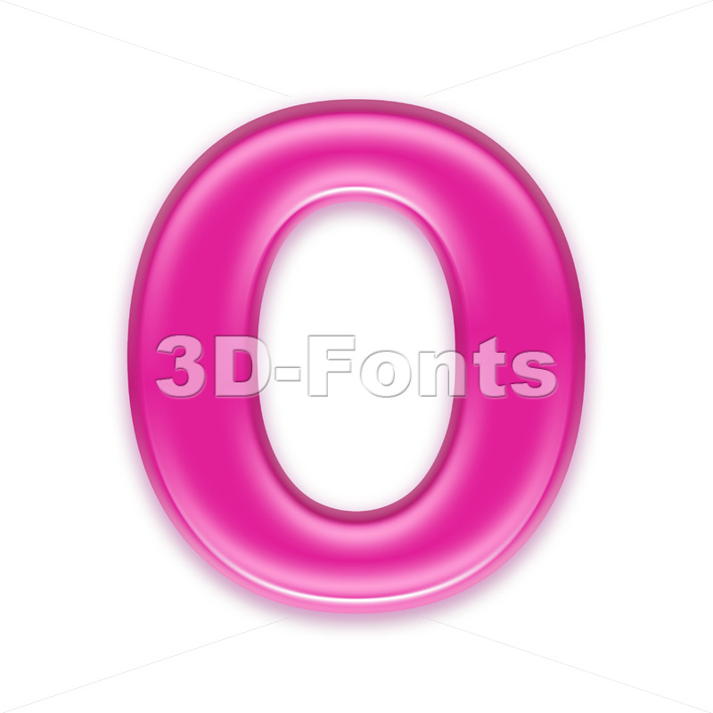 3d Upper-case letter O covered in girly texture - 3d-fonts