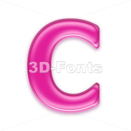 3d girly font C - Capital 3d letter - 3d-fonts