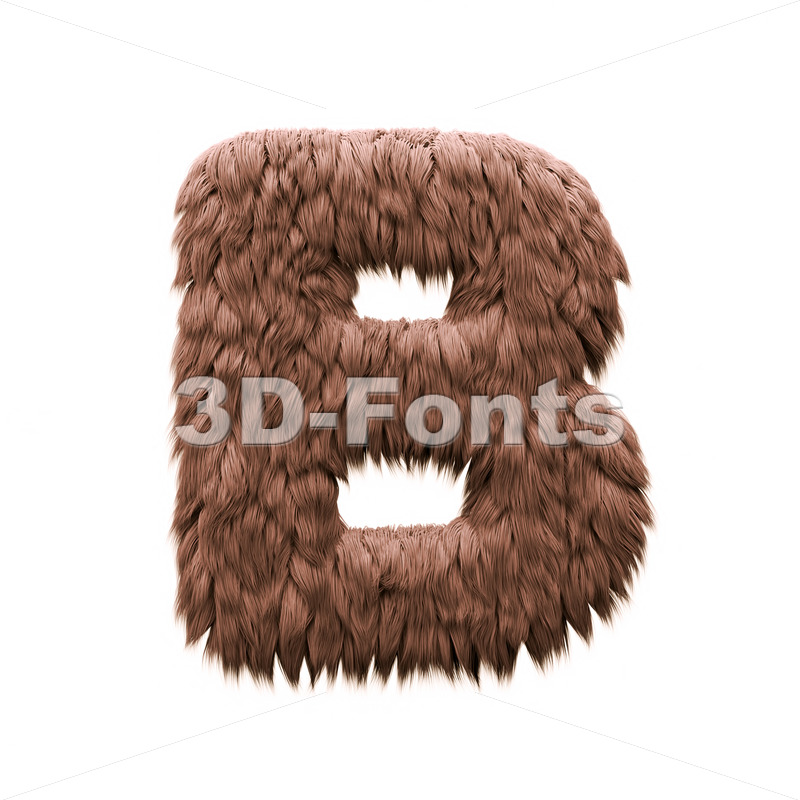 Capital sasquatch letter B - Upper-case 3d font - 3d-fonts