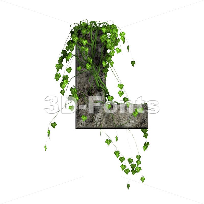Ivy 3d font L - Capital 3d character - 3d-fonts