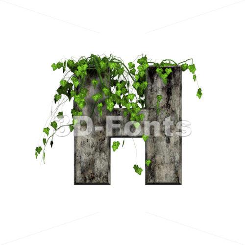 Ivy letter H - Upper-case 3d character - 3d-fonts