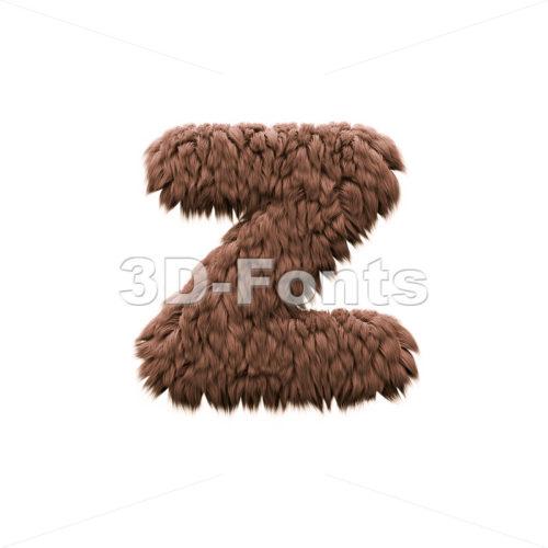 bigfoot 3d character Z - Lower-case 3d font - 3d-fonts