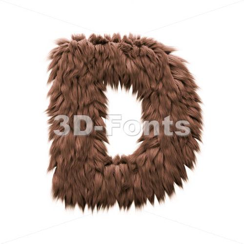 bigfoot font D - Capital 3d character - 3d-fonts