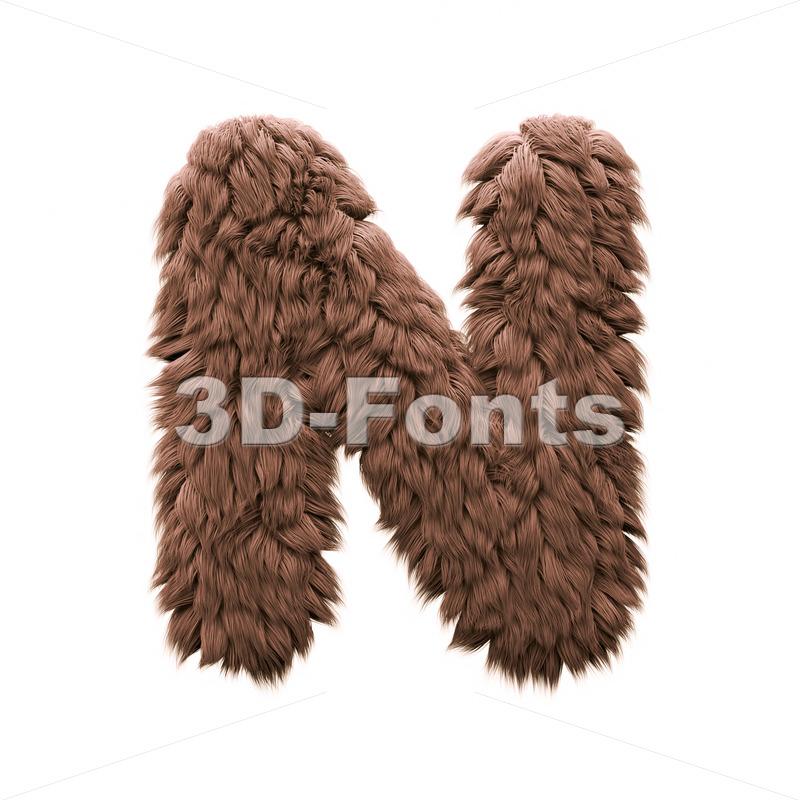 bigfoot font N - Capital 3d letter - 3d-fonts